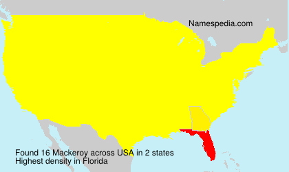 Surname Mackeroy in USA