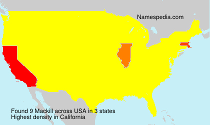 Surname Mackill in USA