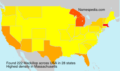 Surname Mackillop in USA
