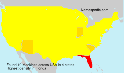 Surname Mackinze in USA