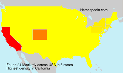 Surname Mackirdy in USA