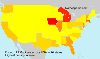 Surname Macksey in USA