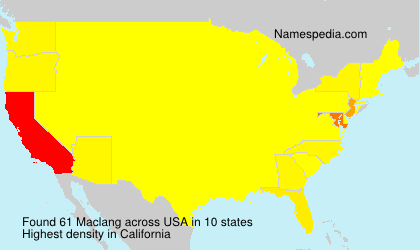 Surname Maclang in USA