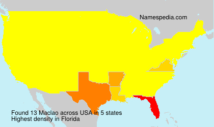 Surname Maclao in USA