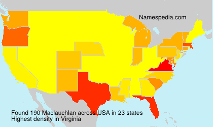 Surname Maclauchlan in USA