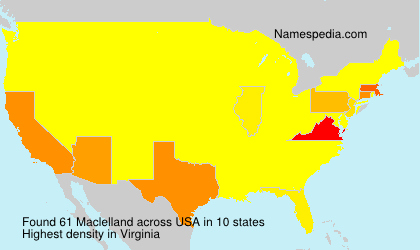 Surname Maclelland in USA