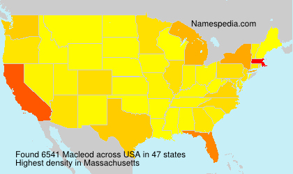 Surname Macleod in USA