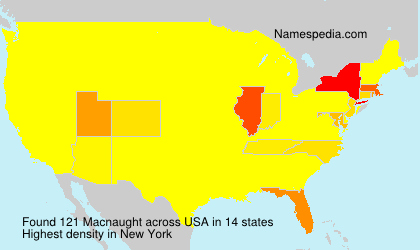 Surname Macnaught in USA