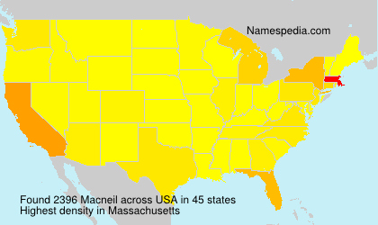 Surname Macneil in USA