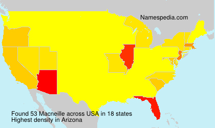 Surname Macneille in USA
