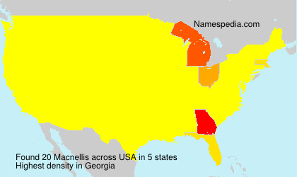 Surname Macnellis in USA