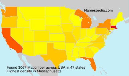 Surname Macomber in USA