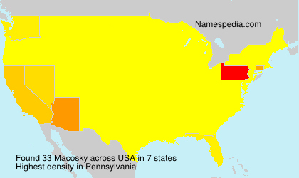 Surname Macosky in USA