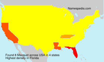 Surname Macquet in USA