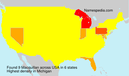 Surname Macquillan in USA