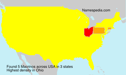 Surname Macrinos in USA