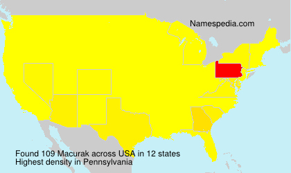 Surname Macurak in USA