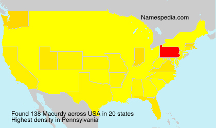 Surname Macurdy in USA