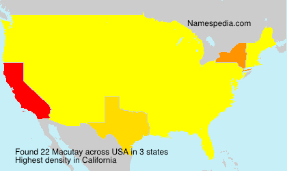Surname Macutay in USA