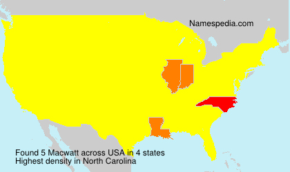Surname Macwatt in USA