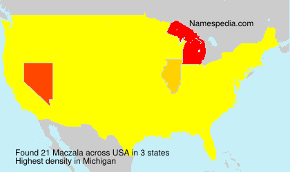 Surname Maczala in USA
