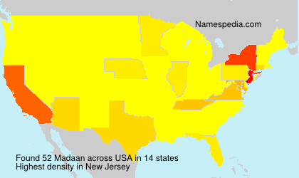 Surname Madaan in USA