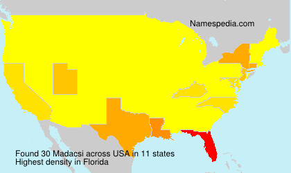 Surname Madacsi in USA
