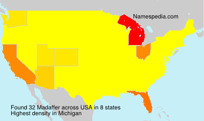 Surname Madaffer in USA