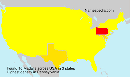 Surname Madalis in USA