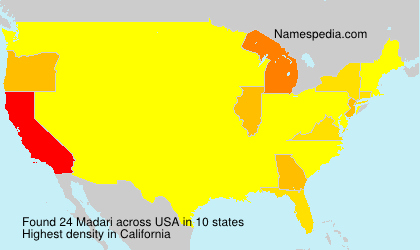 Surname Madari in USA