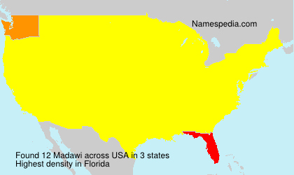 Surname Madawi in USA