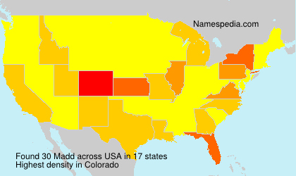 Surname Madd in USA