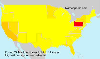 Surname Maddas in USA