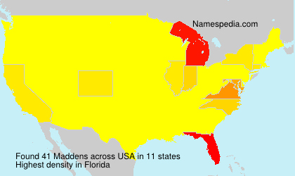 Surname Maddens in USA