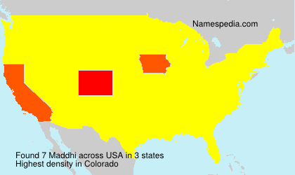 Surname Maddhi in USA