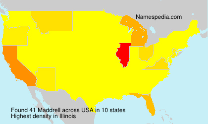 Surname Maddrell in USA