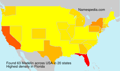 Surname Madelin in USA