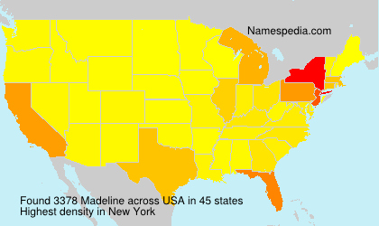 Surname Madeline in USA