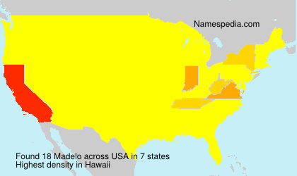 Surname Madelo in USA