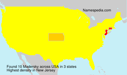 Surname Madersky in USA