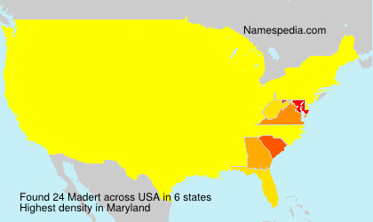 Surname Madert in USA