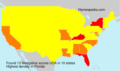 Surname Madgeline in USA