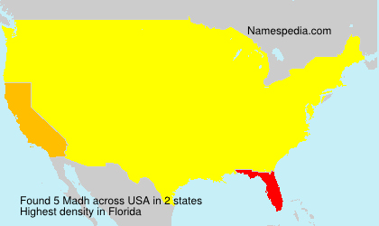Surname Madh in USA