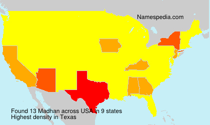 Surname Madhan in USA