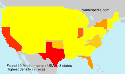 Surname Madhar in USA