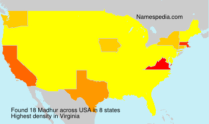 Surname Madhur in USA