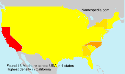 Surname Madhure in USA