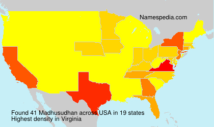 Surname Madhusudhan in USA