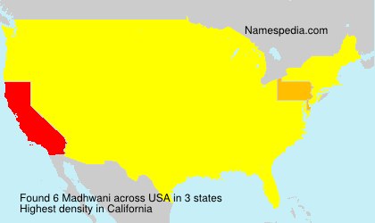 Surname Madhwani in USA