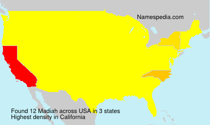 Surname Madiah in USA